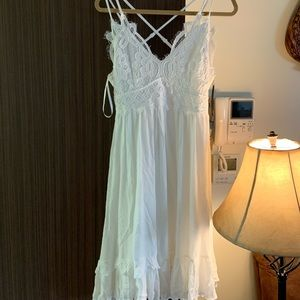 White lace and cotton dress size large